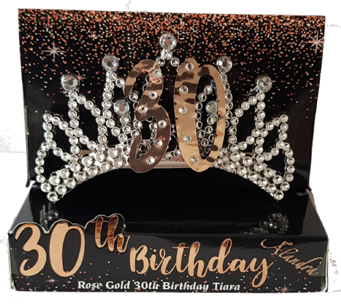 30th Gold Boxed Birthday Tiara